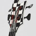 Custom guitar headstock waterslide decals.