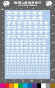 Skull Style A Waterslide Decals