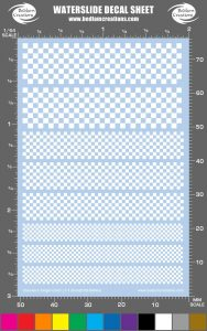 1 Color Checker Waterslide Decals
