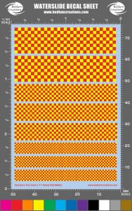 2 Color Checker Waterslide Decals